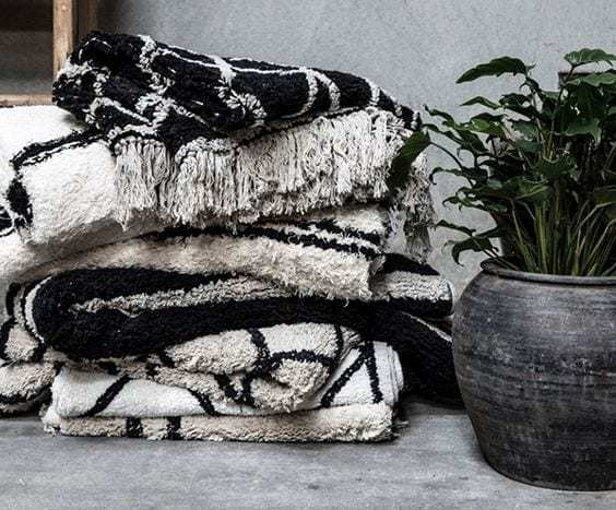 Bytový textil Povlak na polštářek COPENHAGEN BLACK