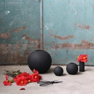 Vázy Ball vase 10cm black