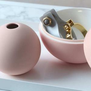 Vázy Ball vase 10cm dusty pink