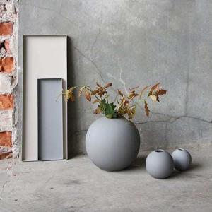 Vázy Ball vase 20cm grey