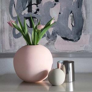 Vázy Ball vase 20cm dusty pink