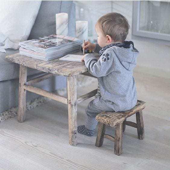 Nábytek Hranatá vintage stolička Baby