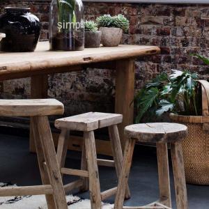 Nábytek Hranatá vintage stolička