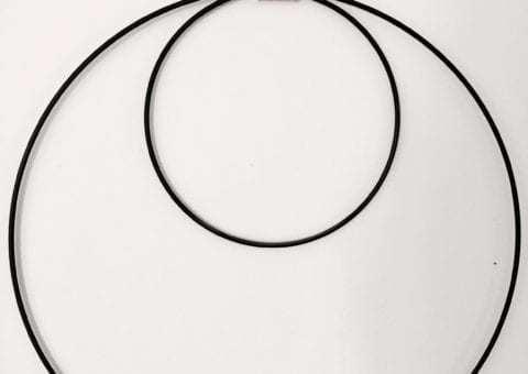 Bytové doplňky Set kruhů černý