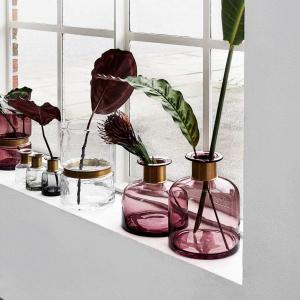 Bytové doplňky Skleněná váza RING purple M