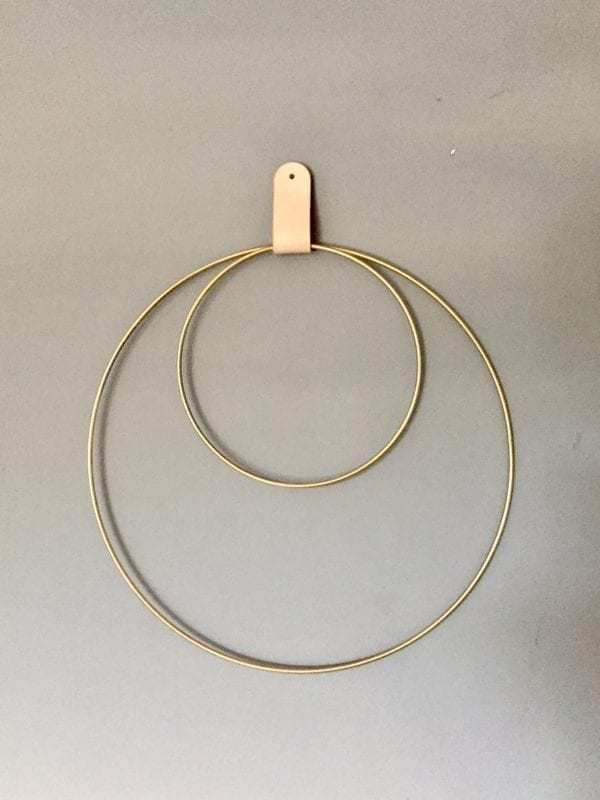 Bytové doplňky Set kruhů zlatý