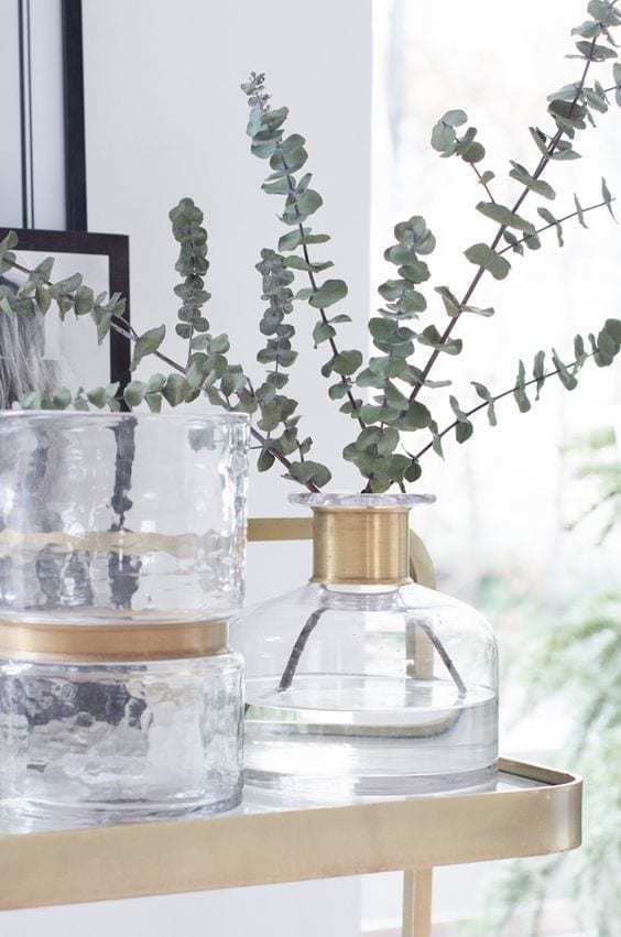 Bytové doplňky Skleněná váza RING deco bottle clear M