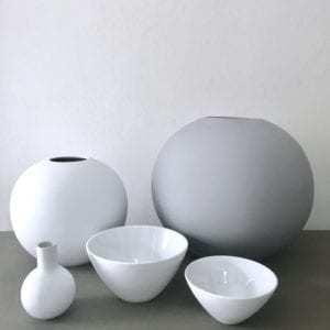 Vázy Collar vase 7cm white