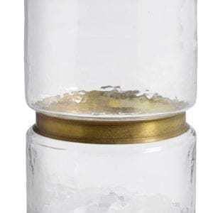 Bytové doplňky Skleněná váza RING clear M