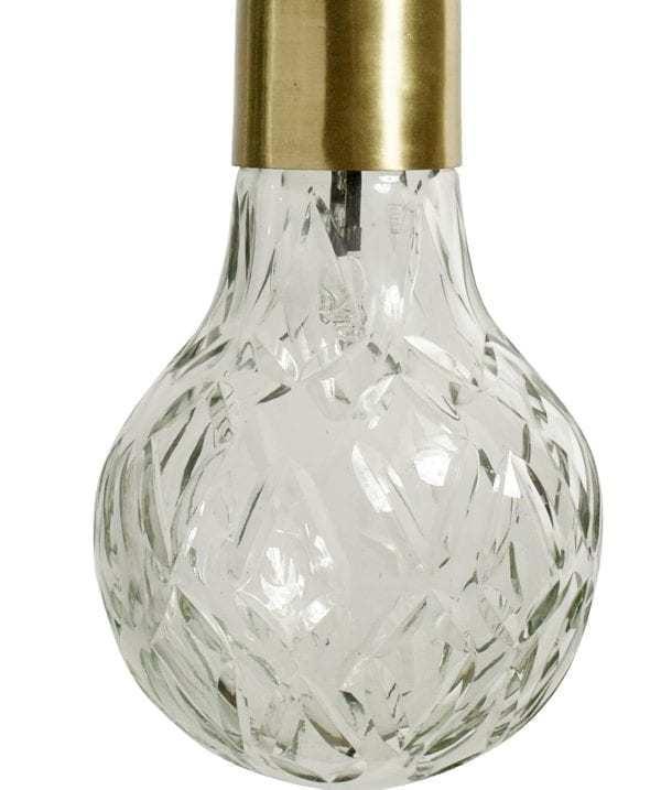 Lampy, lustry, svítidla Závěsná lampa ŽÁROVKA zlatá