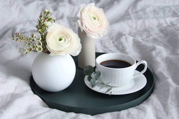 Vázy Ball vase 10cm white