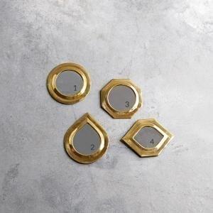 Bytové doplňky Zrcadlo Brass L
