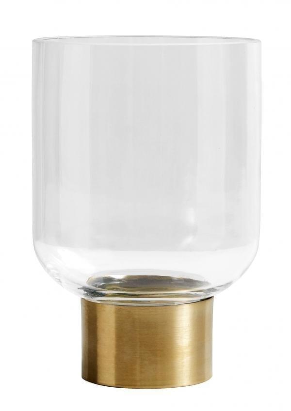 Bytové doplňky Skleněná váza/svícen RING BR