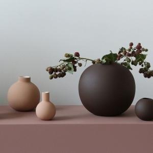 Vázy Ball vase 20cm au lait