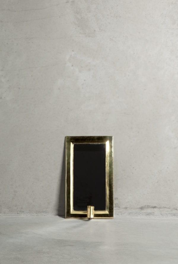 Bytové doplňky Svícen zrcadlo Brass