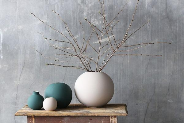 Vázy Ball vase 30cm sand