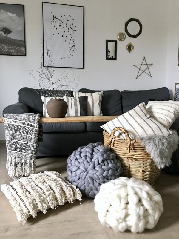 Bytový textil Bonbon merino šedý