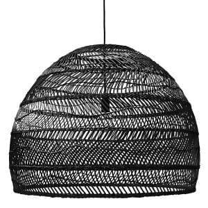 Lampy, lustry, svítidla Proutěná lampa BLACK L