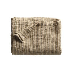 Bytový textil Bavlněný přehoz/pléd curry