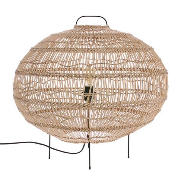 Lampy, lustry, svítidla Proutěná podlahová lampa L