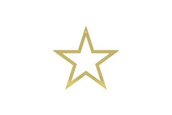 Bytové doplňky Hvězda COOEE Design BRASS M
