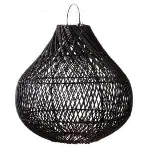 Lampy, lustry, svítidla Proutěné stínidlo BOTTLE Black L