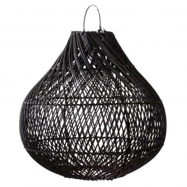 Lampy, lustry, svítidla Proutěné stínidlo BOTTLE Black M