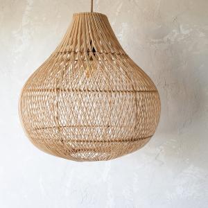 Lampy, lustry, svítidla Proutěné stínidlo BOTTLE Natural L