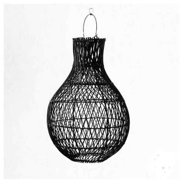 Lampy, lustry, svítidla Proutěné stínidlo BODEM Black M