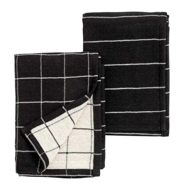 Bytové doplňky Utěrky BLACK WHITE set 2ks