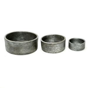 Bytové doplňky Misky grey unique set3ks