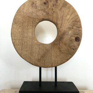 Bytové doplňky Dřevěný kruh natural M