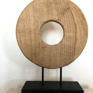 Bytové doplňky Dřevěný kruh natural L
