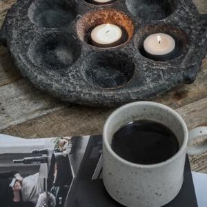 Bytové doplňky Kamenný svícen/tác