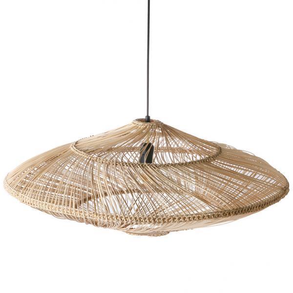 Lampy, lustry, svítidla Proutěná lampa NATURAL OVAL