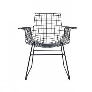 Lavice, židle, křesla Křeslo IRON Black