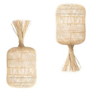 Lampy, lustry, svítidla Proutěná podlahová lampa