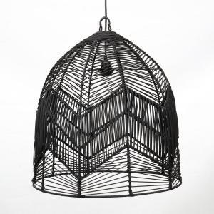 Lampy, lustry, svítidla Proutěné stínidlo BALA BLACK L