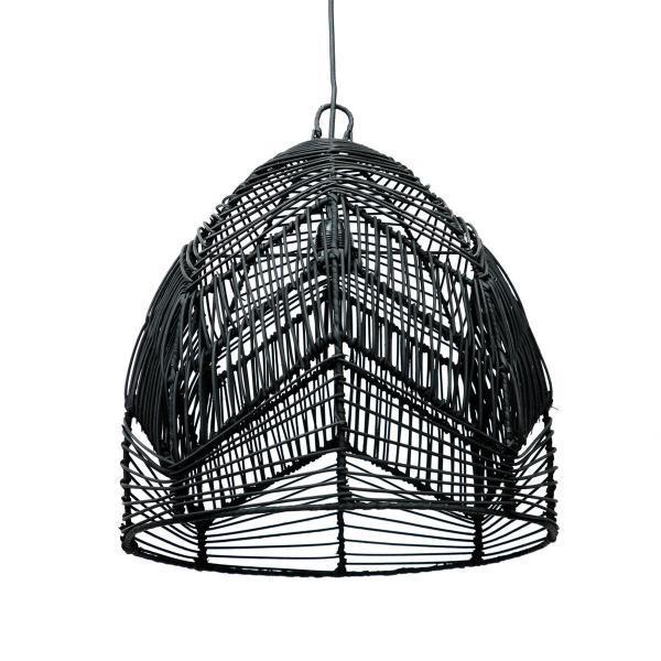 Lampy, lustry, svítidla Proutěné stínidlo BALA BLACK M