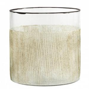Bytové doplňky Svícen/váza Glass Beige M