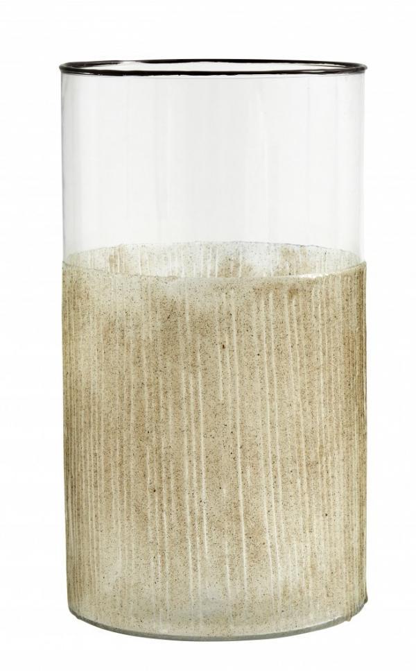 Bytové doplňky Svícen/váza Glass Beige L