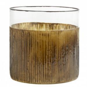 Bytové doplňky Svícen/váza Glass Brown M