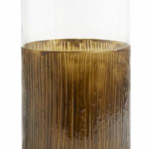 Bytové doplňky Svícen/váza Glass Brown L