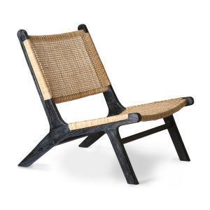 Lavice, židle, křesla Křeslo TEAK Black