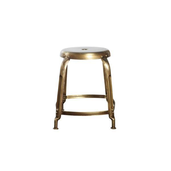 Nábytek Kulatá stolička antique brass