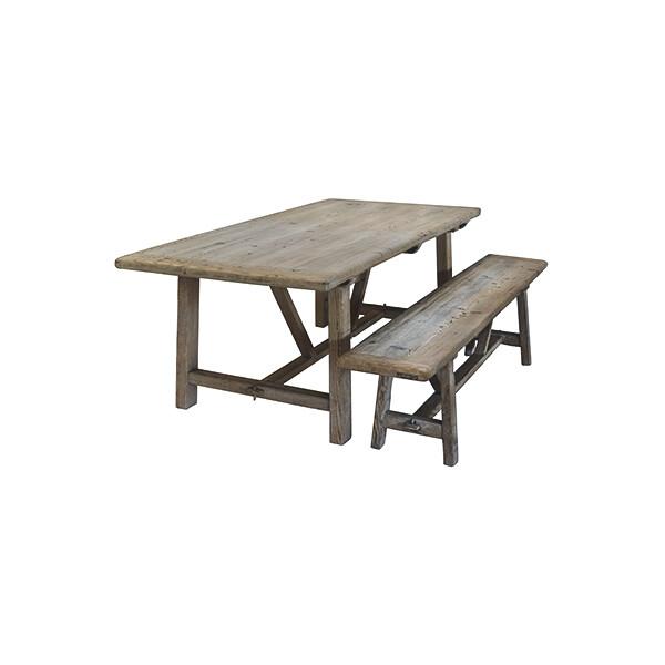 Lavice, židle, křesla Hranatá vintage lavice PURE