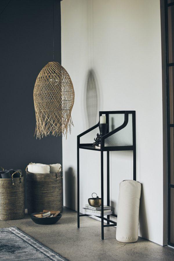 Lampy, lustry, svítidla Proutěná lampa NATURAL STRIPE