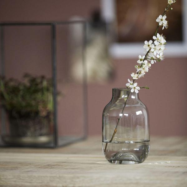 Bytové doplňky Váza clear grey S