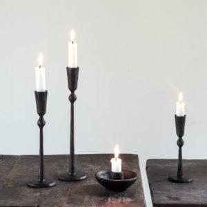 Bytové doplňky Svícen black matt bowl