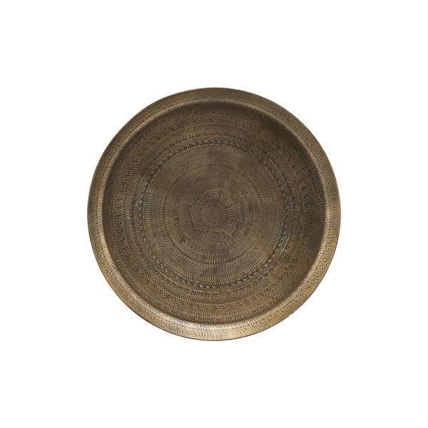 Bytové doplňky Kovový tác Mandale antique brass